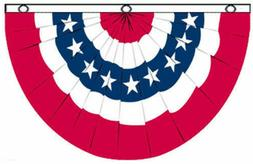 3'x5' USA Bunting Flag Red White Blue Parade Banner American