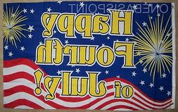 3'x5' Happy 4th of July Fireworks Flag Celebration USA Party