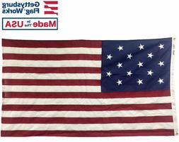 3x5' 15 Stripe 15 Star Star Spangled Banner in Cotton for In