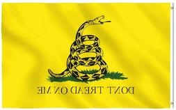 3x5 Gadsden Don't Tread on Me Flag 3'x5' House Banner gromme