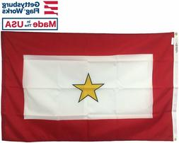 3x5' Gold Star Flag, Gold Star Mother, Durable All-Weather N