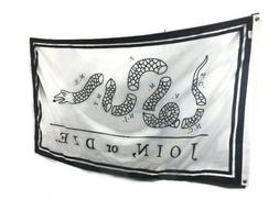 3x5' Join or Die Snake Flag - Durable All-Weather Nylon Flag