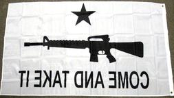 3x5 Texas Come and Take It M4 Carbine Rifle Flag Polyester P