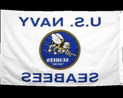 3X5' US NAVY SEABEES FLAG Durable All-Weather Nylon Flag - M