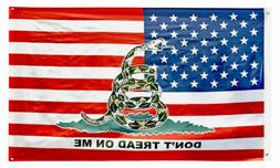 3x5 USA American Gadsden Don't Tread On Me Flag 3'x5' Banner