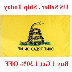 G128 - 3x5ft Dont Tread on Me Gadsden Flag Gadsden Tea Party