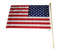 5 Foot Wooden Flag Pole Kit Wall Mount Bracket With 3x5 USA