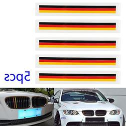 Areyourshop 5 PCS Front Grill Grille Lining Strips Sticker D