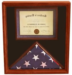 DECOMIL 3x5 Flag Display Case With Certificate & Document Ho