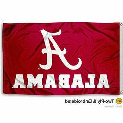 Alabama OFFICIAL Flag Double Side 2Ply 3x5' Foot Outdoor UNI