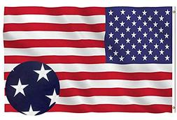 Lecoolife American Flag 3x5 ft, Long Lasting Durable Polyest