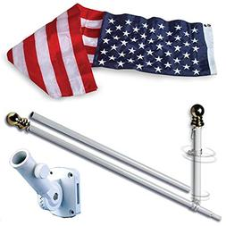 Allied Flag American Home Nylon 3 by 5-Feet US Flag Set with