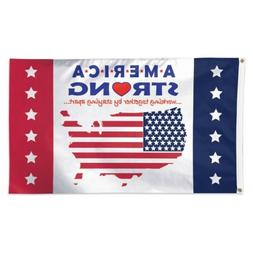AMERICAN STRONG WORKING TOGETHER BY STAYING APART 3'X5' DELU