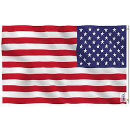 Anley Fly Breeze 3x5 Foot American US Polyester Flag - Vivid