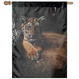 suhongliang Animal Fur Dangerous Zoo Garden Flag Holiday Dec