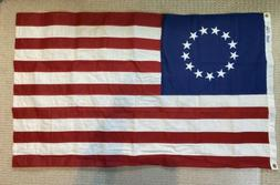 Betsy Ross Emb Flag 3x5ft Cotton Bulldog Made in USA 13 Star