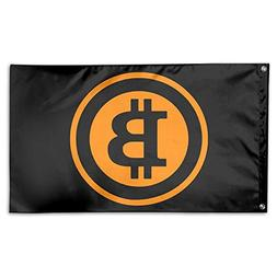 Bitcoin Logo 2017 100% Polyester Fabric Game Flag 3x5""