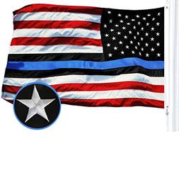 G128 - Blue Lives Matter American USA Police Flag Embroidere