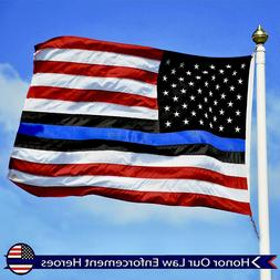 G128 – Blue Lives Matter Flag | 3x5 ft | Embroidered – E