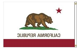 California 3ftx5ft Nylon State Flag 3x5 Made In USA 3'x5'