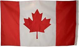 Canadian Flag - 3x5 Foot Outdoor Nylon Banner with Embroider