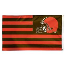 CLEVELAND BROWNS AMERICANA 3'X5' DELUXE FLAG BRAND NEW FREE