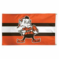 CLEVELAND BROWNS BROWNIE THE ELF 3'X5' DELUXE STRIPE FLAG WI