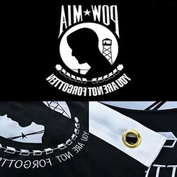 Winbee Embroidered POW MIA Flag 3x5 Ft- Exclusive Strongest