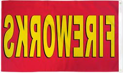 Fireworks Flag 3x5 Fireworks Stand Banner Sign Fourth of Jul