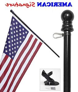 American Flag and Pole kit Set: Includes a 3x5 ft US Flag Ma