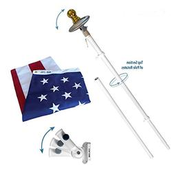 "Annin Flagmakers 72"" Spinning Flagpole with NylGlo US Flag a"