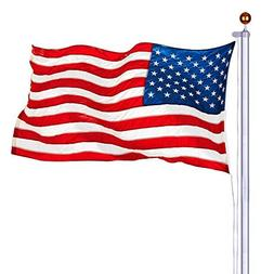 S&Cortile 25 ft Flagpole Kit Aluminum 3'x5' US American Flag