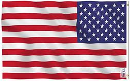 Anley |Fly Breeze| 3x5 Foot American US Polyester Flag - Viv