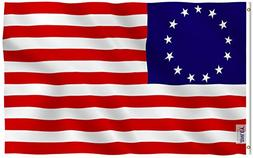 Anley Fly Breeze 3x5 Foot Betsy Ross Flag - Vivid Color and