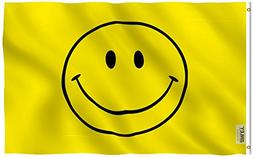 Anley Fly Breeze 3x5 Foot Yellow Smiley Face Flag - Vivid Co