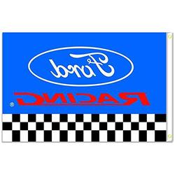 Home King Ford Racing Flags Banner 3X5FT 100% Polyester,Canv