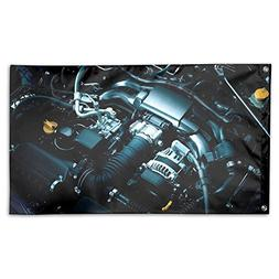 Garden Flag Engine Picture Outdoor Yard Home Flag Wall Lawn
