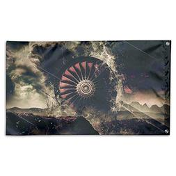Garden Flag Jet Engine Design Outdoor Yard Home Flag Wall La