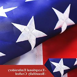 G128 - American Flag USA Flag 3x5 Ft Double Sided Embroidere