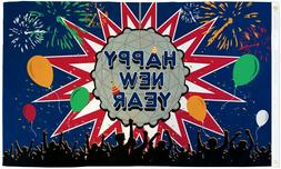 Happy New Year Flag 3x5ft NYE 2020  New Years Flag Holiday D