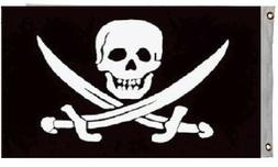Jack Rackham Jolly Roger Pirate Flag Ship Banner Pennant 3x5