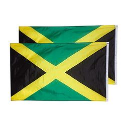 Jamaica Flags - 2-Piece Outdoor 3x5 Feet Jamaica Flags, Jama