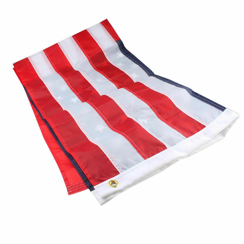 3'x 5' FT Flag U.S.A U.S. United Stripes Brass