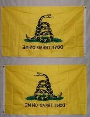 3x5 Gadsden Culpeper Tea Party Flag Double Stitched 2 Faced