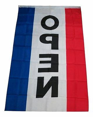 3x5 Open Flag Advertising Vertical Open Flag Sign 3'x5' 5'x3