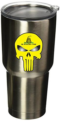 "BOLDERGRAPHX 5079 2""x3"" Punisher Skull with gadsden flag 2 p"