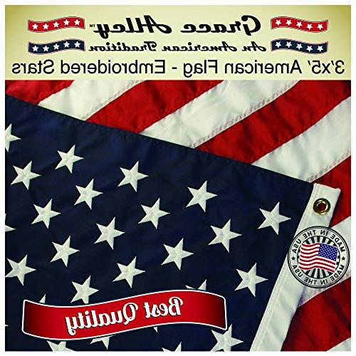 Grace Alley American American Made US Flag Made USA and Sewn Flag Code.