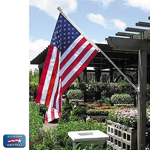 Annin Model American Flag Nylon SolarGuard 100% with Stars and Brass Grommets.