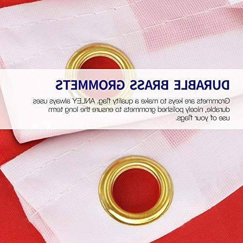 Anley Fly Breeze 3x5 Foot American US Polyester Flag Vivid and - Header and Double - Flags with Brass 3 Feet