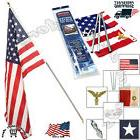 Residential US Flag Set 3' X 5' American USA Printed Banner